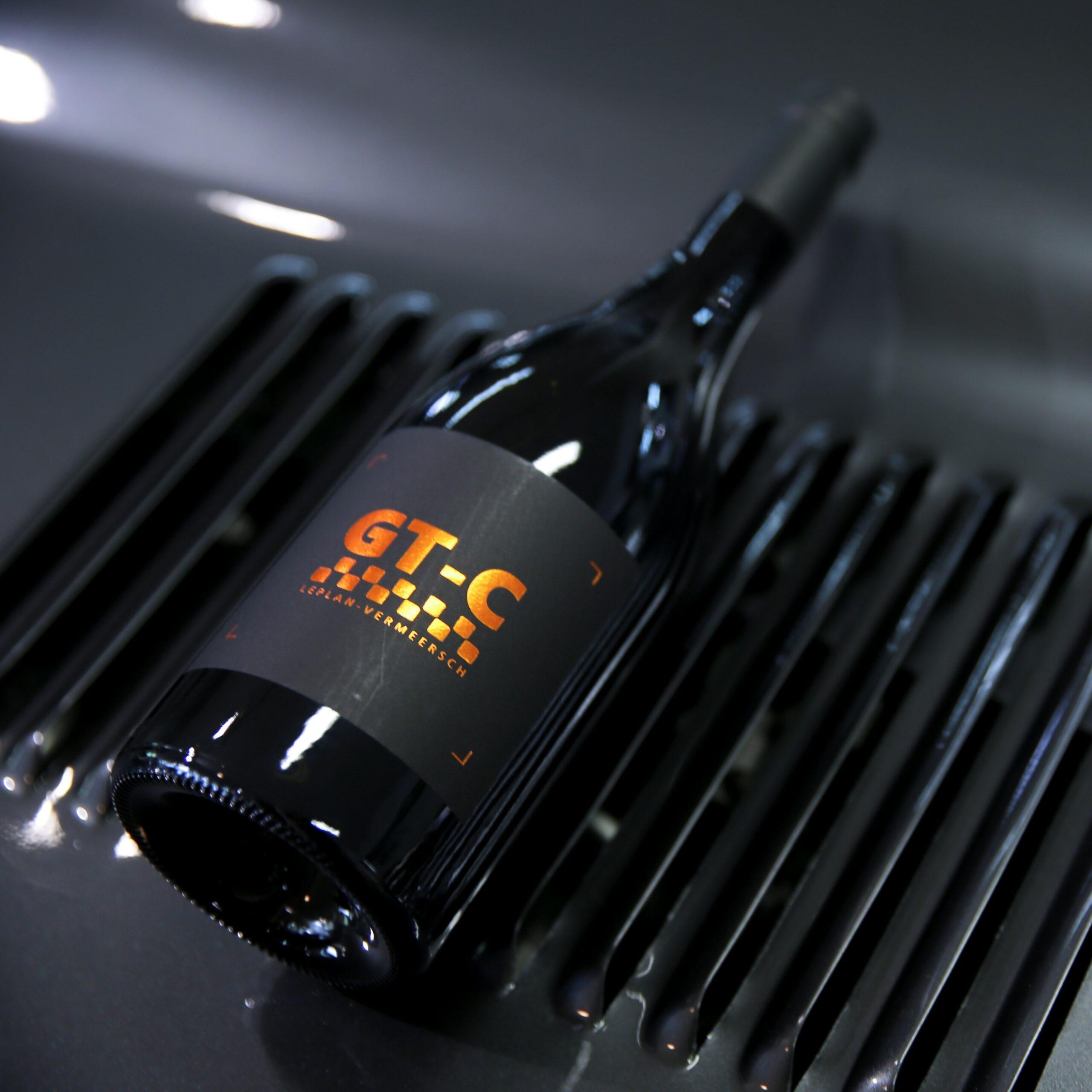 Vin de France Bottle red wine GT Carignan top of car LePlan-Vermmersch