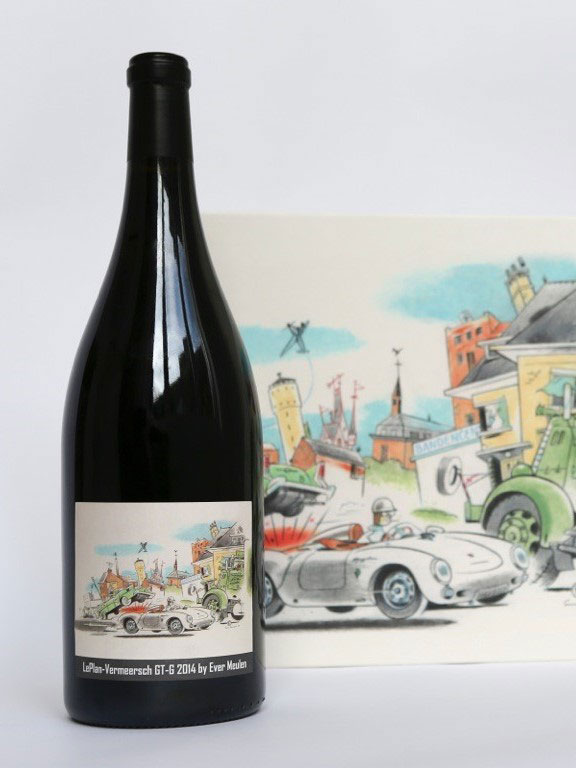 Personalized artword plus painting by Ever Meulen with a car speeding