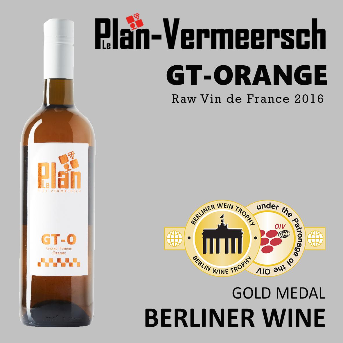 Bottle wine GT-ORANGE Vin de France DF LePlan-Vermeersch