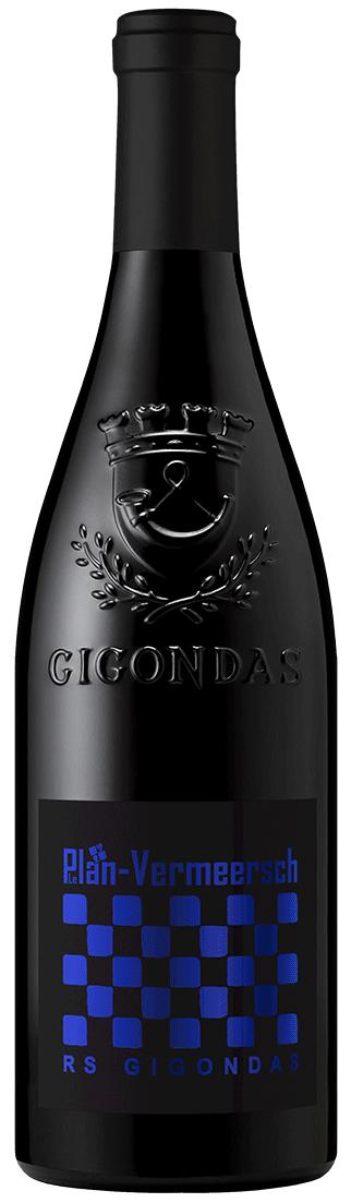 Bottle red wine-rs gigondas Gigondas Cru AOP LePlan-Vermeersch