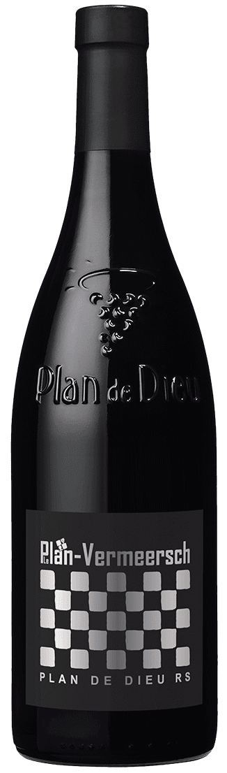 Bottle Red wine RS-Dieu Plan de Dieu Village AOP LePlan-Vermeersch