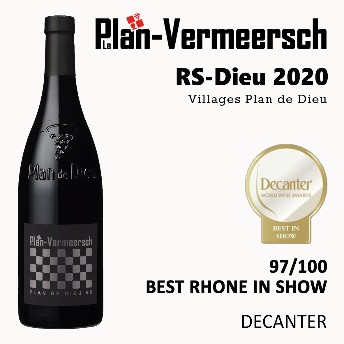 Red wine RS-DIEU decanter best rhone in show 2020