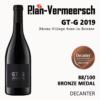 Bottle wine Grenache GT-Grenache bronze medal decanter LePlan-Vermeersch