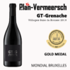 Bottle of wine Grenache GT-Grenache mondial Bruxelles gold medal LePlan-Vermeersch