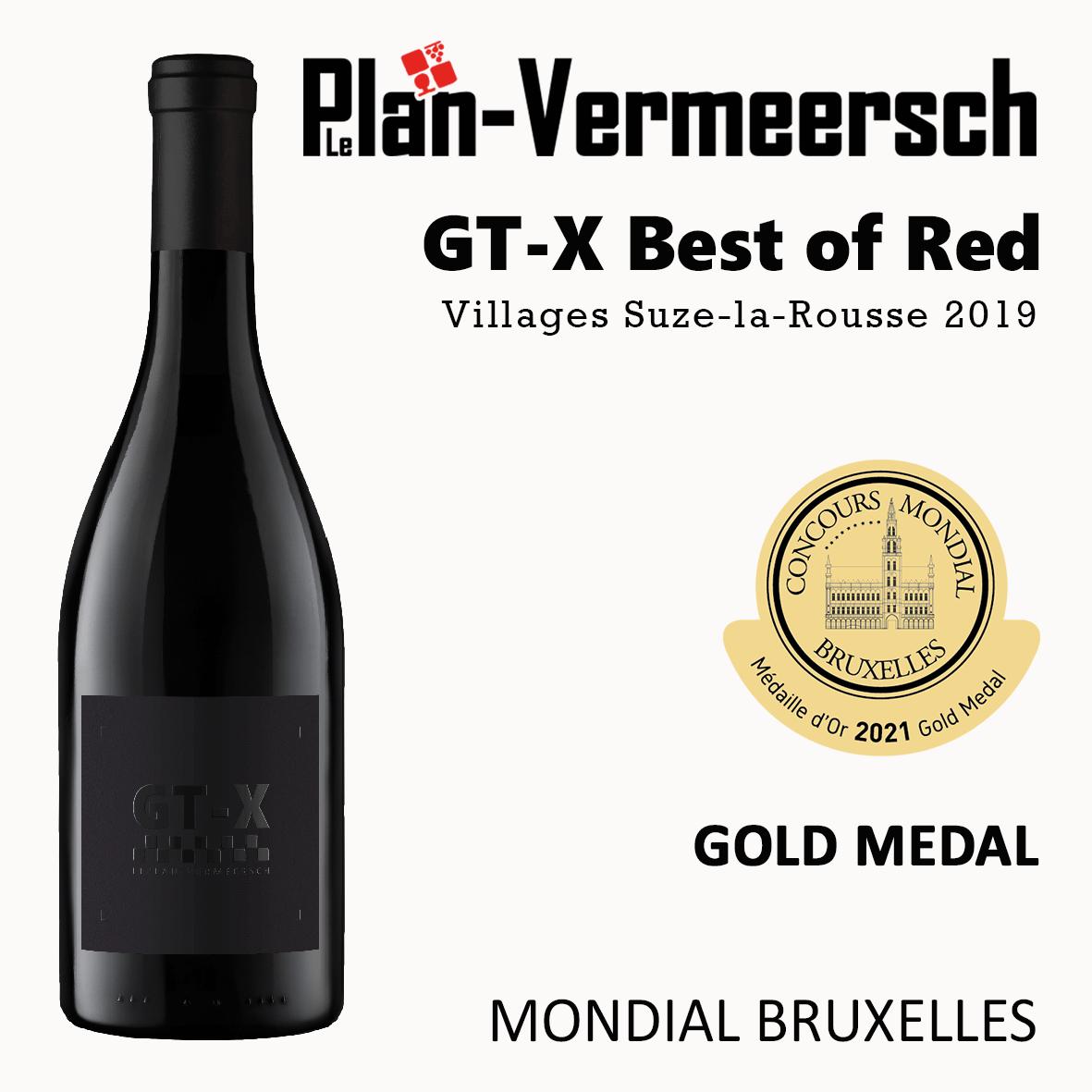 Bottle blend grenache syrah carignan mourvèdre viognier wine mondial Bruxelles gold medal Leplan-Vermersch