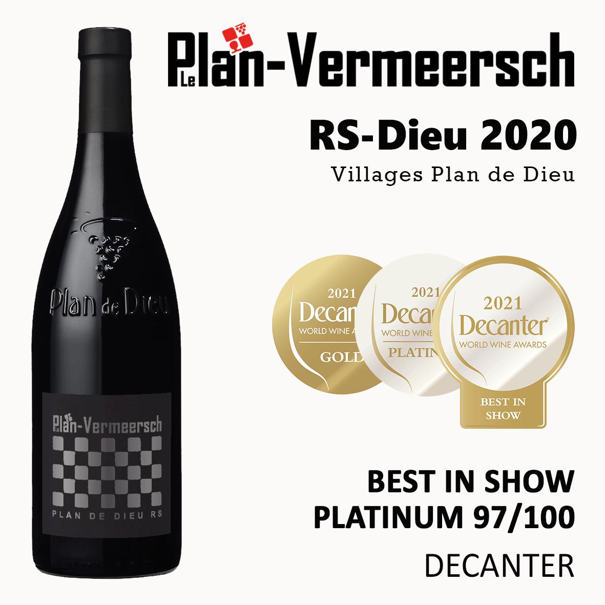 Bottle wine RS-Dieu blend Grenache, Syrah ,Mourvedre LePlan-Vermeersch
