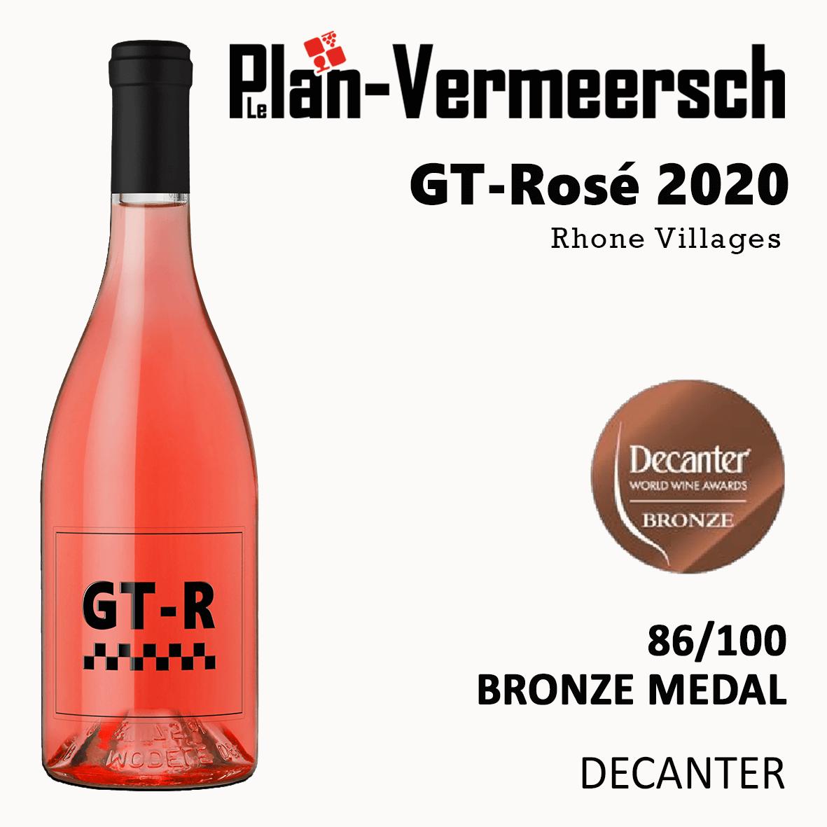Bottle wine blend Grenache Mourvèdre GT-Rose bronze medal Decanter LePlan-Vermmersch